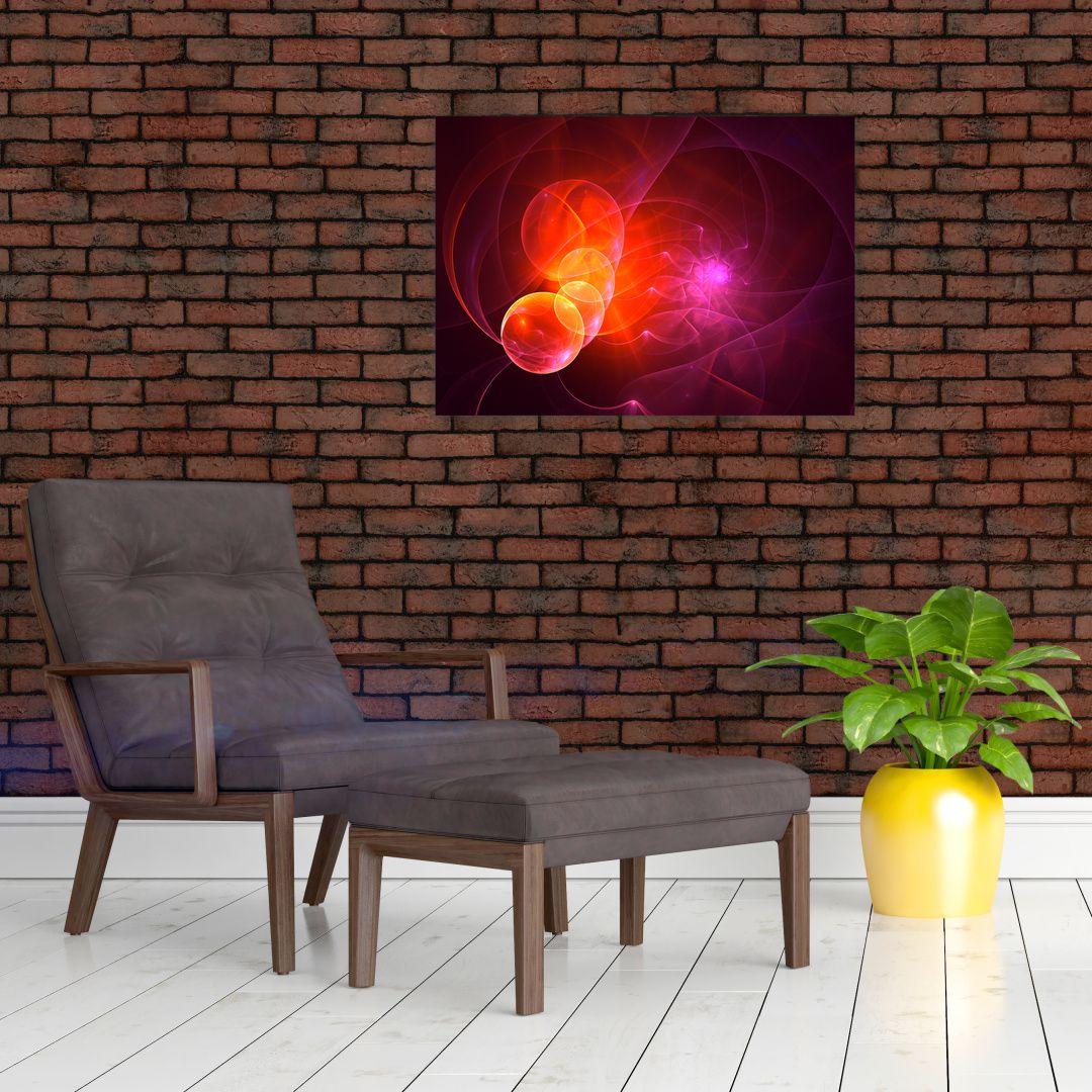 Moderní obraz růžové abstrakce (V020129V7050)