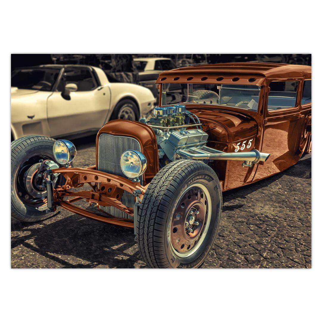 Obraz hnědého auta (V020538V7050)