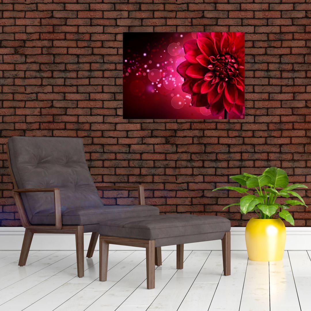 Obraz červené kvety (V020807V7050)