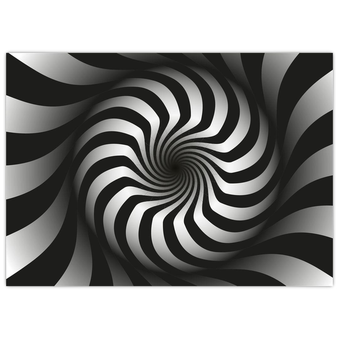 Abstraktní obraz černobílé spirály (V020831V7050)