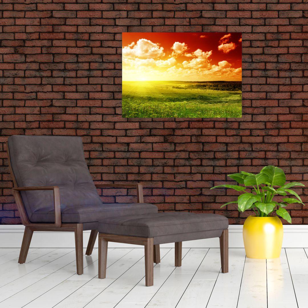 Obraz louky se zářícím sluncem (V021174V7050)
