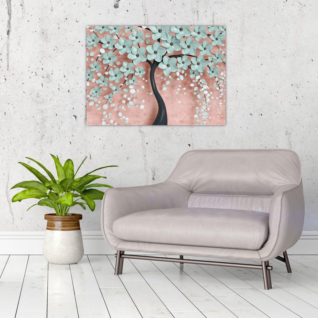 Obraz - Pastelově modré květy (V021459V7050)