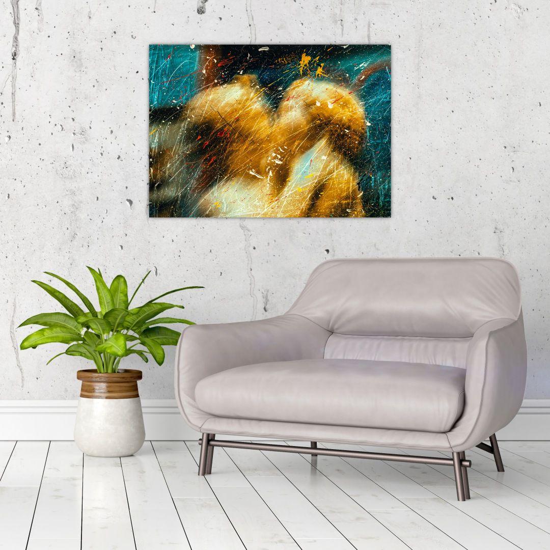 Obraz - Bozkávajúci sa anjeli (V021614V7050)