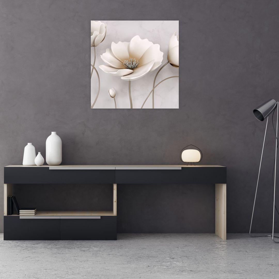 Obraz bílých květin (V020898V7070)