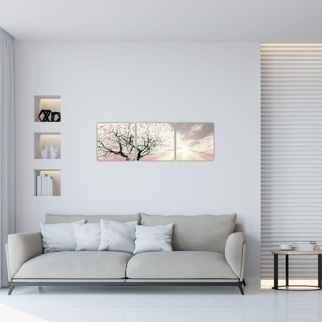 Růžový obraz stromu (V020058V9030)