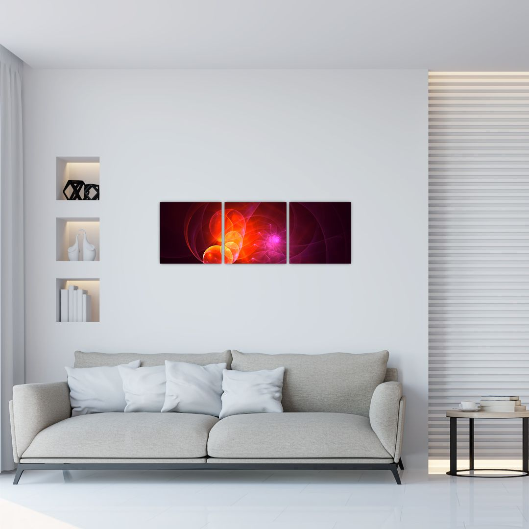 Moderní obraz růžové abstrakce (V020129V9030)