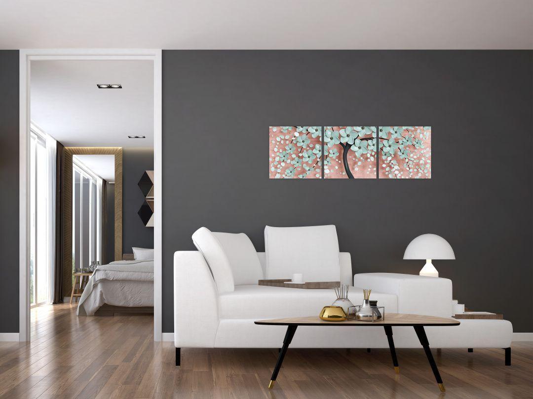 Obraz - Pastelově modré květy (V021459V9030)