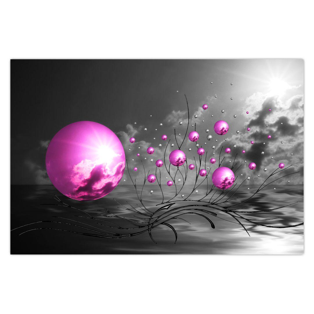 Obraz ružových gulí (V020108V9060)