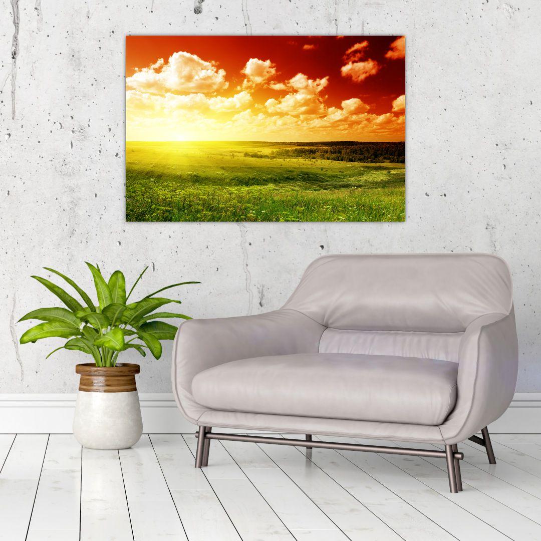Obraz louky se zářícím sluncem (V021174V9060)