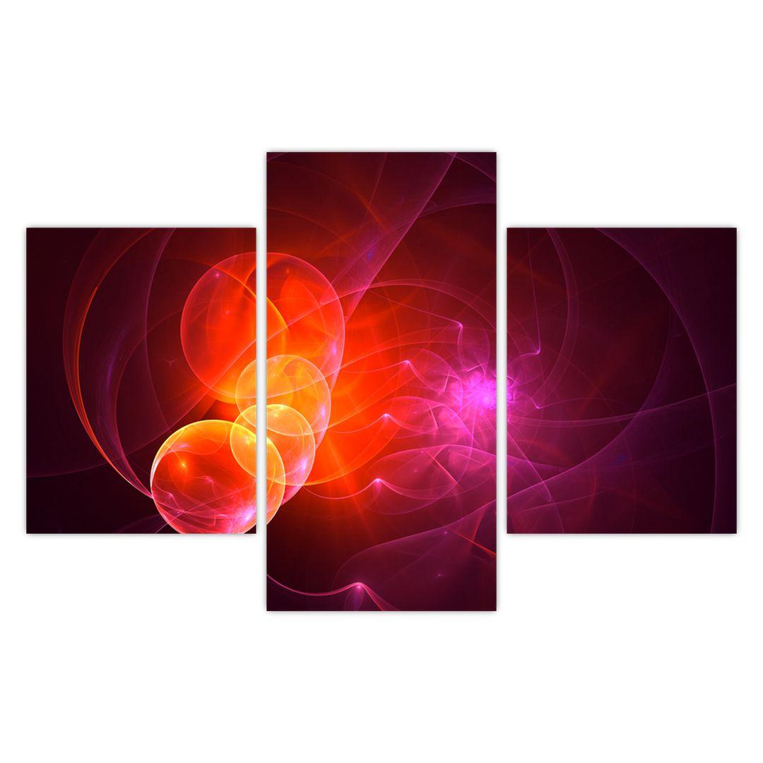 Moderní obraz růžové abstrakce (V020129V90603PCS)