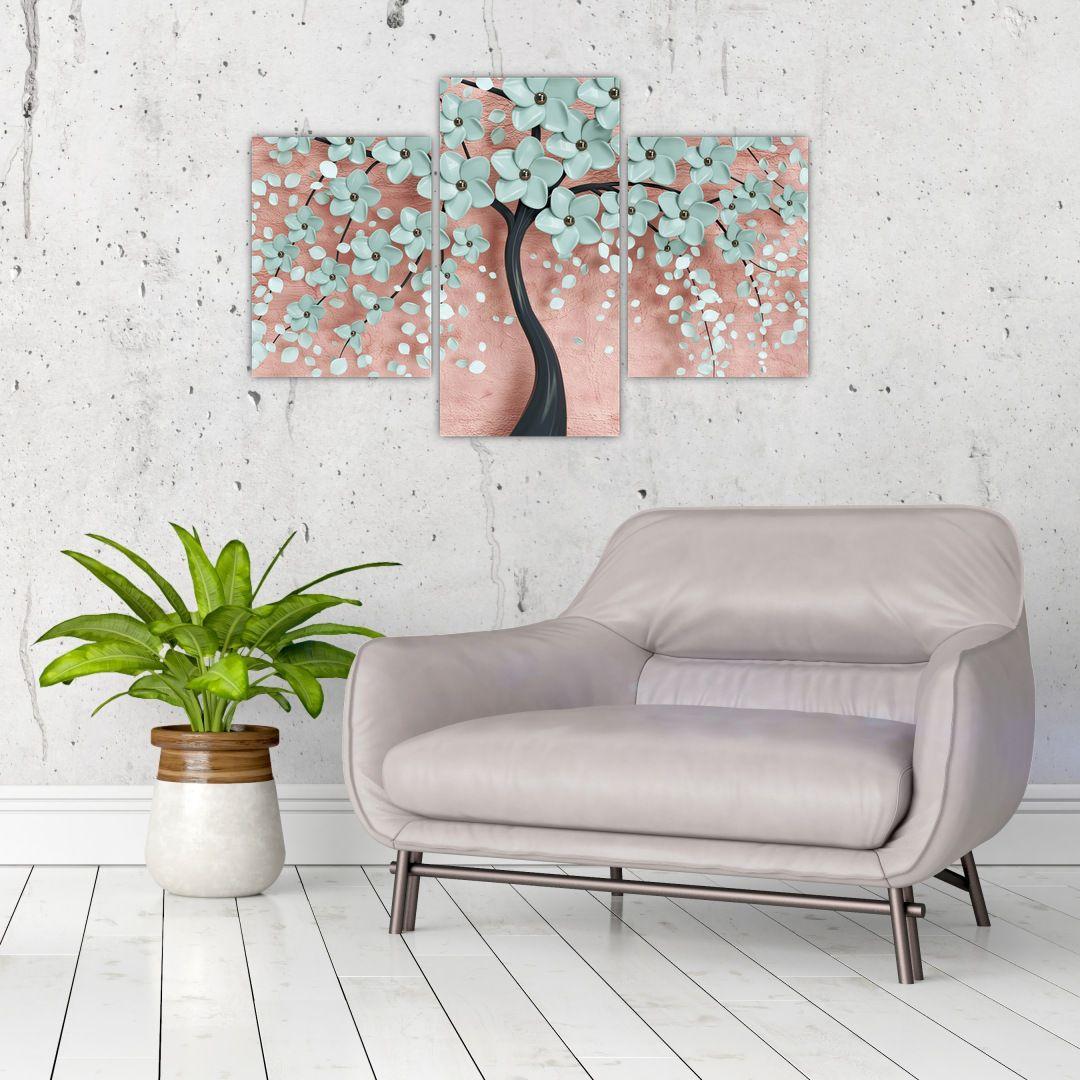 Obraz - Pastelově modré květy (V021459V90603PCS)